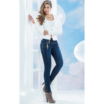 Divina Side Button Jean