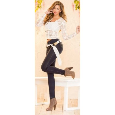 Divina Dark Wash Jean with Sash