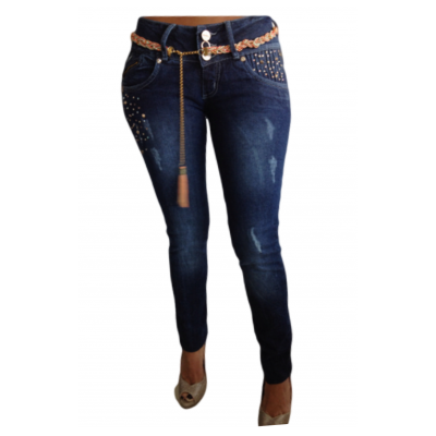 Cocoa Embellished Skinny Jeans