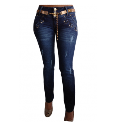 Cocoa Distressed Skinny Jeans