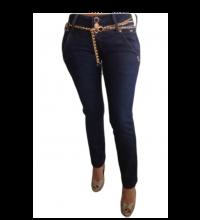 Cocoa Rhinestone Skinny Jeans